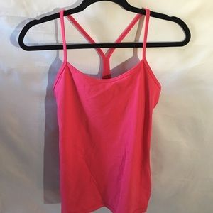 Lululemon hot pink power Y tank top Size 8